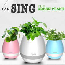 Smart Bluetooth Music Speaker With Light Touch Plant Can Sing Several songs, Stress Toy For Anxiety Stress Relief For Child(China)