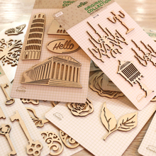 Creative Wood Flourishes For Scrapbooks,Home Decor,Cardmaking,DIY Vintage wood veneer flourishes decorations - 18 designs(China)