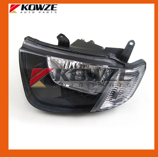 Left Headlamp Head Lamp Light White Surface For Mitsubishi Pickup Triton L200 2005-2014<br>