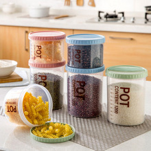 Plastic Food Storage Container Beans Organizer Seal Transparent Scale Storage Box Canister Crops Fridge Grains Snacks Case
