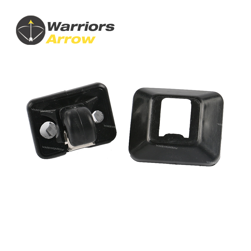 Retainer Cover SET Genuine AUDI A4 A3 A5 TT Black Interior Sun Visor Hook Clip