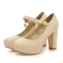 Women Pumps Fashion Mary Jane Shoes Platform Women High Heels White Wedding Heels Shoes Women Plus Size 43