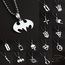 Anime Super Heroes Charming Stainless Titanium Steel Silver Pendant Necklace