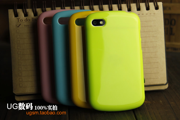 High-quality Silicone case For BlackBerry Q10,Shiny Jelly Silicone Back cover case For BlackBerry Q10(China)