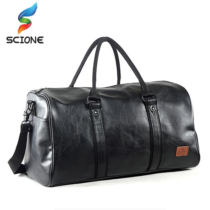 2017 Top Quality PU Unisex Sport Gym Bag For Men Women with Independent shoes Travel Training Fitness Bag Portable Shoulder Bag<br>