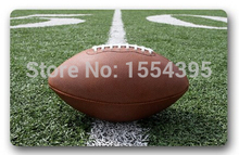 Custom Doormat-American Football Playground Style Sports