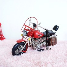 Vintag Iron Motorcycle Model For Harley-Davidson motorcycle model handsome boy send gift Home Decoration
