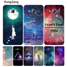 HongJiang New Fashion Promotion Space Universe cover phone case for Samsung Galaxy J1 J2 J3 J5 J7 MINI ACE 2016 2015(China)