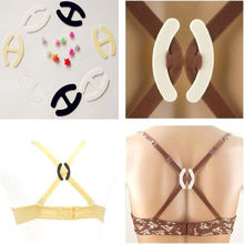 10pcs Webbing Bra Buckles Shadow-Shaped Buckle Bra Clip Strap Holders(China)