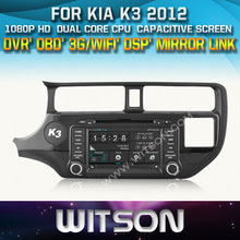 WITSON CAR DVD GPS For K3/RIO car audio player with Capctive Screen 1080P DSP WiFi/3G/OBD/DVR(optional) Good Price+Free shipping