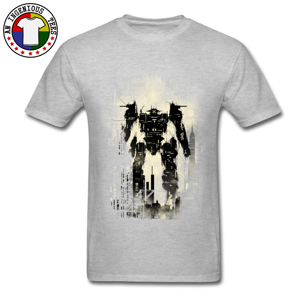 The Builder Printed On Tops T Shirt Short Sleeve for Men Pure Cotton Summer/Autumn Crew Neck T Shirt Design Sweatshirts Funny The Builder grey