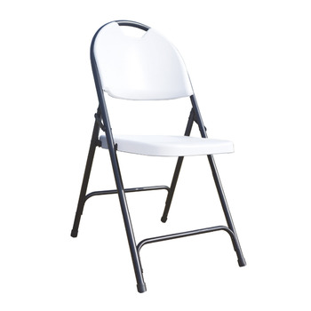 Alextend Folding Chairs with Carrying Handle 4-Pack White
