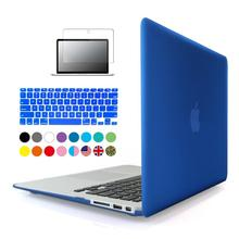 3in1 Matte Case For Apple macbook Air Pro Retina 11 12 13 15 inch Protector For Mac book 11.6 13.3 15.4 hard laptop bag(China)