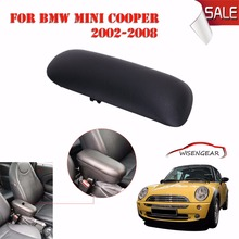 Black Car Center Console Sliding Top Armrest Cover Fit for BMW Mini Cooper One R50 R52 R53 Convertible 2001-2008 51166954297 C/5