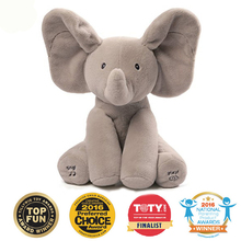 Peek A Boo Elephant Stuffed Animals & Plush Elephant Doll, Play Music Elephant Educational Anti-stress Electric Toy For Baby(China)