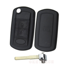 high quality Uncut Flip Folding 3 Buttons Remote Key Shell Case Cover For Land Rover Discovery LR3 Range Rover Sport