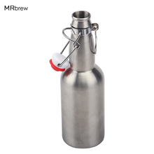 12oz 330ml Stainless Steel Beer Bottle Standard Beer Bottle with Recyclable Swaying Flip Top Beer Bottle Cap(China)