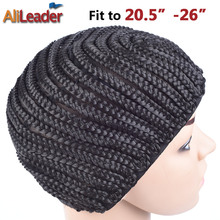 10Pcs Easier Sew black Cornrow Braids Crochet Wig Caps For Making Wigs Full Lace Wigs Cap Elastic Weaving Net Mesh Caps For Wigs(China)