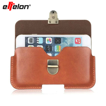 Effelon Outdoor Sports Leather Waist Belt Pouch Case Cover Bag Holster For Multi Smart Phone Smartphone For iPhone 5 5S 6 7 7s(China)