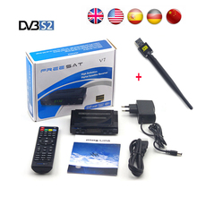 5pcs Freesat V7 HD satellite receiver Full 1080P HD Digital tv satellite decoder+USB WIFI support BISS Key Powervu Cccam Youtube(China)