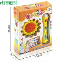 CHAMSGEND Sunflower Echo Microphone Mic Voice Changer Toy Gift Birthday Present Kid Party S30
