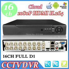 Digital Video Recorder  Mini CCTV DVR 16 channel full d1 hdmi  Cloud H.264 Network 16CH DVR for Home Security CCTV Camera