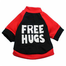 Dogs Coat Hoodies Pet Puppy Winter Warm Cotton Soft Clothes Sweatshirt letter print short sleeves Cute costumes 2017