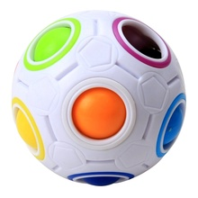 TP Fun Creative Spherical Magic Cube Speed Rainbow Ball Football Puzzles Kids Educational Learning Toys for Children Adult Gifts