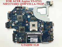 High quality laptop motherboard for ACER Aspire V3-571G NBY1711001 Q5WVH LA-7912P HM77 SLJ8C GT620M 1GB 100% Fully tested(China)