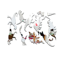 3D Christmas Wall Sticker Princess Room Decal Decoration Dinosaur Mirror Stickers Home Decor Adesivo De Parede Vinilos Paredes