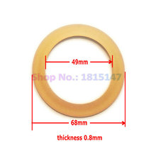 2pcs Piston ring 49*68*0.8, teflon material ring for 550w/750w oilfree air compressor, spare parts PTFE ring