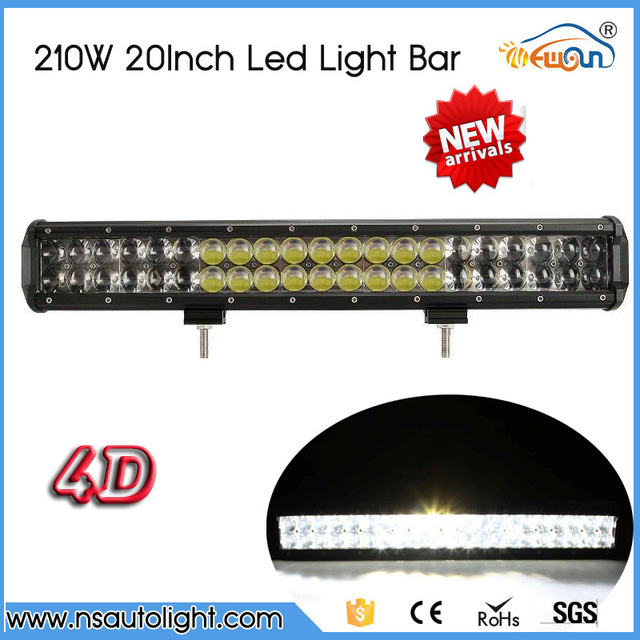 20 210W 4D LED Light Bar 4X4 Offroad Led Work Light Bar straight combo beam 12V 24V Truck SUV ATV UTV Wagon Boat 4WD Pickup<br><br>Aliexpress