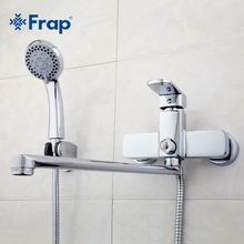 Frap High-quality Brass body 35cm length outlet rotated Bath room shower faucet With ABS shower head F2273(China)