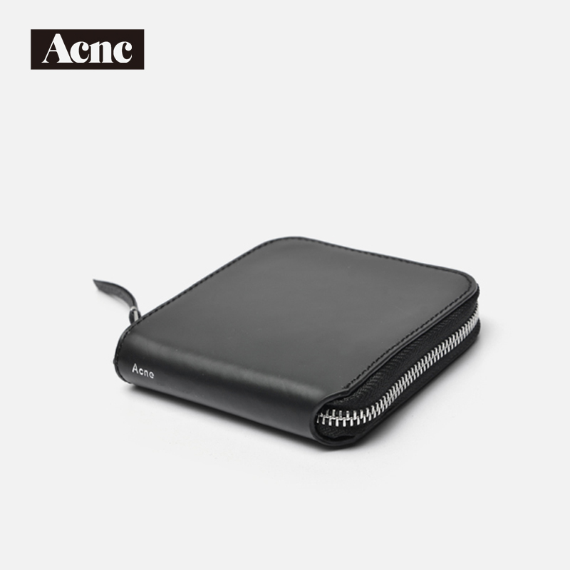 Acne legend unisex genuine leather short wallet,Acne men real leather lady purse,Acne women leather short purse,free shipping<br>