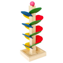 Funny Kids Children Wooden Tree Blocks Marble Ball Run Track Game Baby Intelligence Early Educational Toy FJ88