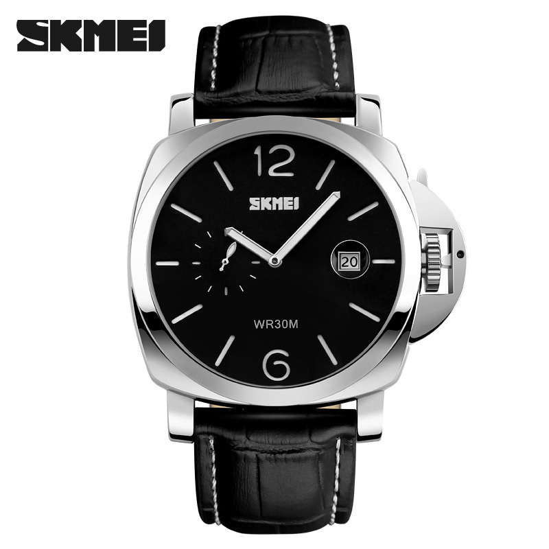 Top Brand New Luxury Sport Watches Men 2017 Mens Wristwatches Skmei Mens Leather Quartz Wrist Watch Clock Men Reloj<br><br>Aliexpress