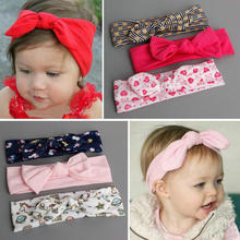 3PCS Great quality Cute Hair Accessories toddlers flower Print Headbands Kids Hairband Headwear pure cotton turban headwrap D22