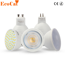 ECO Cat LED Bulb Spotlight GU10 MR16 6W 220V COB Chip Beam Angle 120 2W 4W Spotlight LED Lamp For Downlight Table Lamp