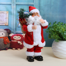 Christmas Santa Claus Singing Dancing Toy Funny Electric Festival Home Decoration Living Room 2017 Christmas Ornaments Gift(China)