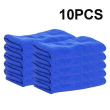10pcs Ultra Soft Microfiber Auto Car Cleaning Towel Cloth Wipe Cleanse Home Blue