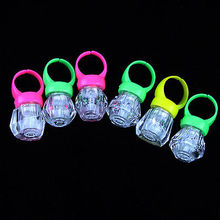 10PCS 40PCS 60PCS LED Finger Lights Flashing Rings Raves Glow Neon Lamp Fine beams Kids Toys Boys Girls Children Kids Toy