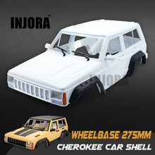 INJORA Hard Plastic 275mm Wheelbase Cherokee Body Car Shell for 1/10 RC Rock Crawler RC4WD D90 TF2 MST