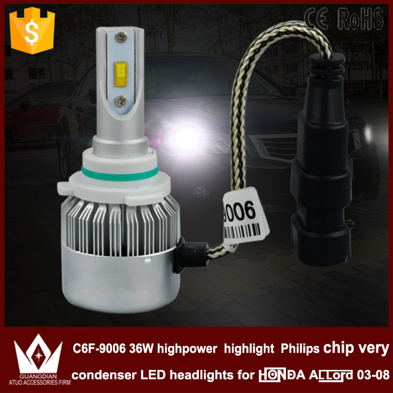 Cheetah car led light DIPPED BEAM C6F  9006 36W DC 12V/24V 3800LM 6000k high power highlight  fit for Accord 2003~2008 only<br><br>Aliexpress