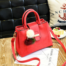 2017 New Arrivals Bags for Female Classic Concise Elegant Fashion Handbags Solid Color Black Red Green Grey Purple Pink Totes