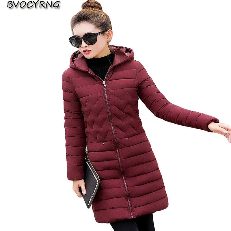 New Women Winter Jacket Outerwear Hooded Big Yards Thickening Female Wadded Jacket Fashion Medium Long Cotton Warm Parka Q836Îäåæäà è àêñåññóàðû<br><br>