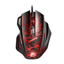 3200DPI 6 Keys Adjustable DPI Macro Optical USB Gaming Mouse With Wired 4 Breathing LED Light Mouse For PC Laptop Desktop Gamer