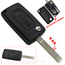 Folding Flip 2 Buttons Remote Car Key Shell For Citroen C2 C3 C4 C5 C6 C8 CE0536 No Battery Holder Without Groove High Quality