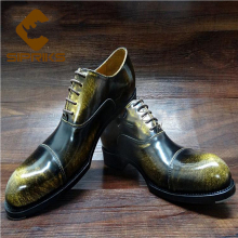 Sipriks mens goodyear welted shoes vintage cap toe mens oxford shoes italian custom unique boss leather shoes bronze dress shoes