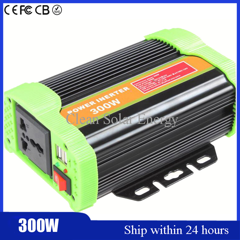 New Type Modified Sine Wave Car Inverter 300W Motor Inverter 12/24 220 v to 220V Power Supply Switch DC to AC Power Inverter <br>