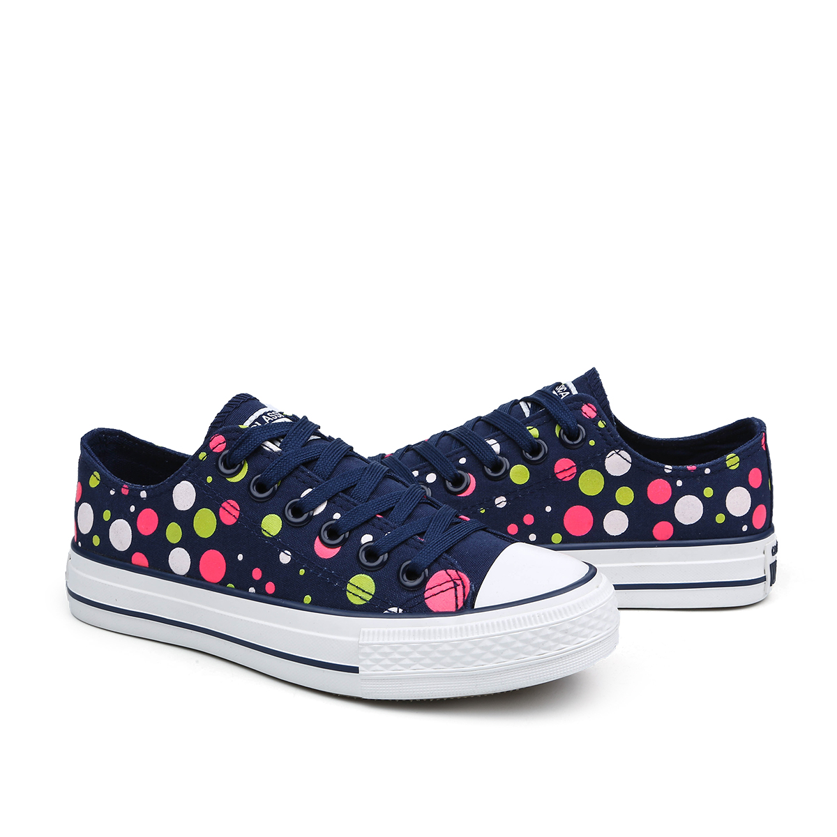 New Canvas Shoes Women Flats Female Spring Summer Students Shoes Fashion Low To Help With Round Dot Casual Shoes B2726<br><br>Aliexpress